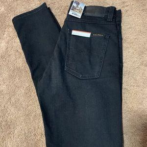 Nudie Jeans Co Lean Dean Black slim fit jeans